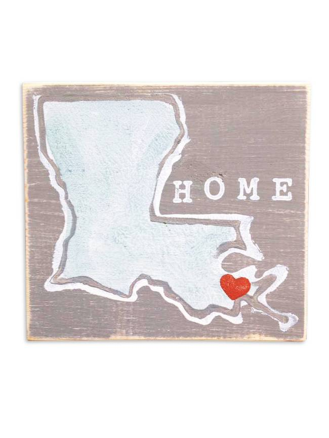 Louisiana with Heart Sign by Home Malone