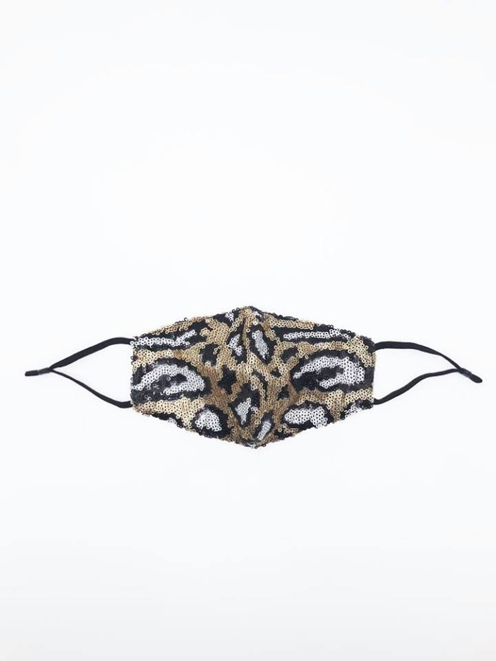 Animal Print Sequin Face Mask