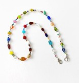 Glass Beaded Face Mask Chain, Large
