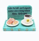 Cafe Au Lait & Beignets Tray Magnet