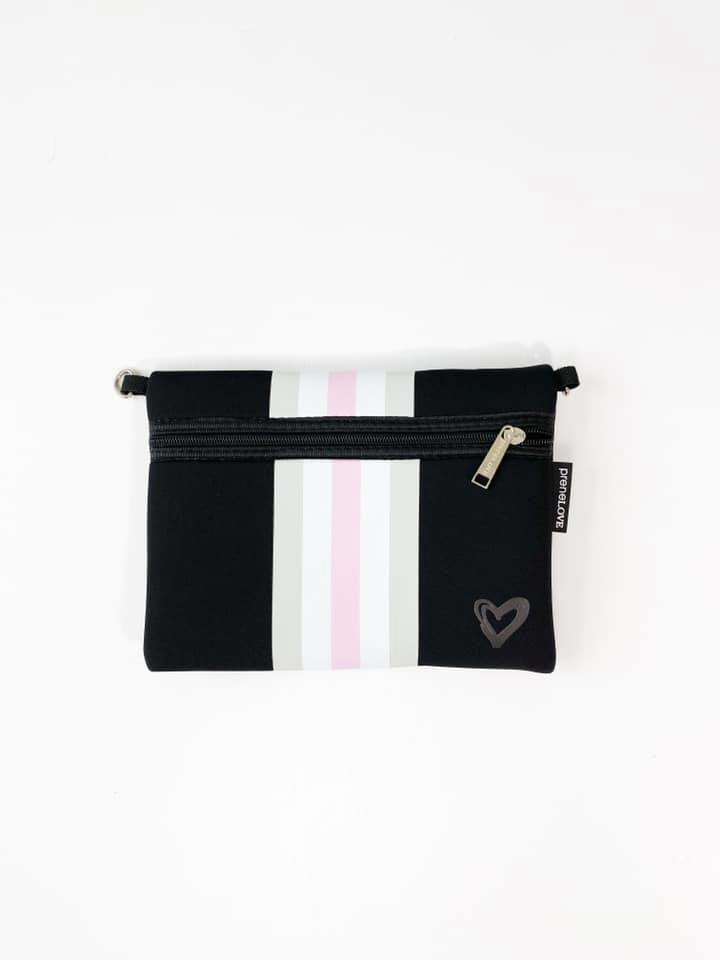 Neoprene Travel Tote, Black & Pink