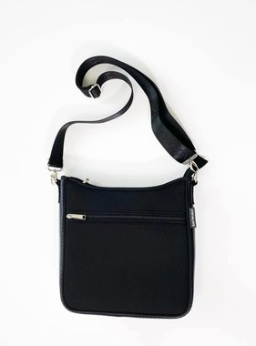 Neoprene Messenger Crossbody, Black