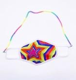 Face Mask Chain, Rainbow Coil