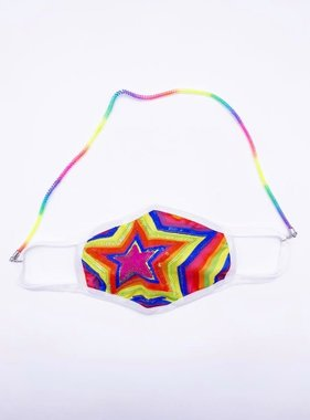 Face Mask Chain, Rainbow Coil