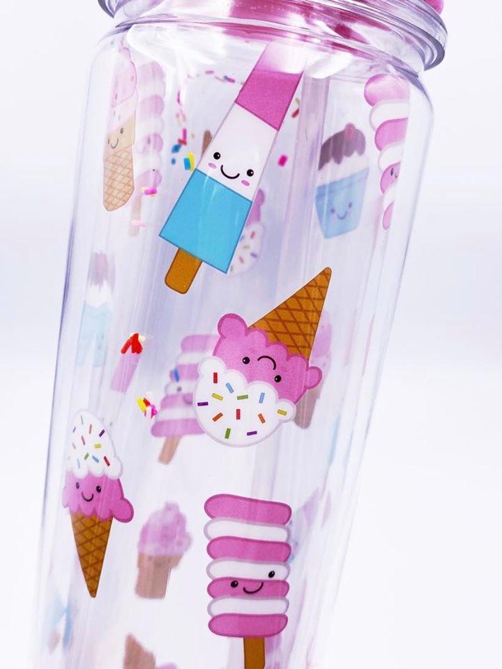 Ice Cream Treats w/Sprinkles Water Bottle