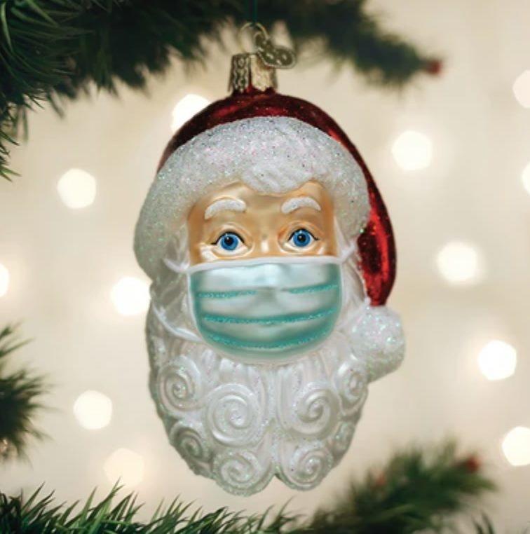 Masked Santa Ornament