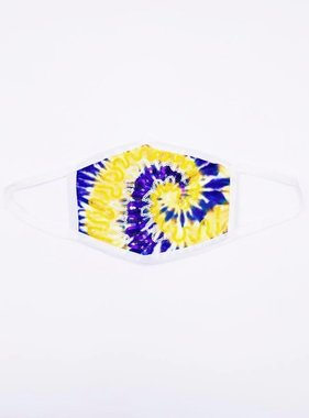 Sparkle City Tie Dye Face Mask, Purple & Gold