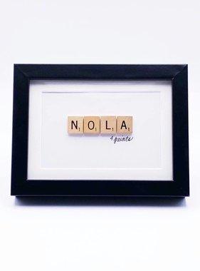 Scrabble Frame, Nola