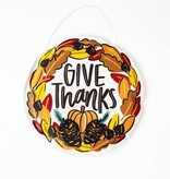 Christmas Bird/Give Thanks Door Hanger