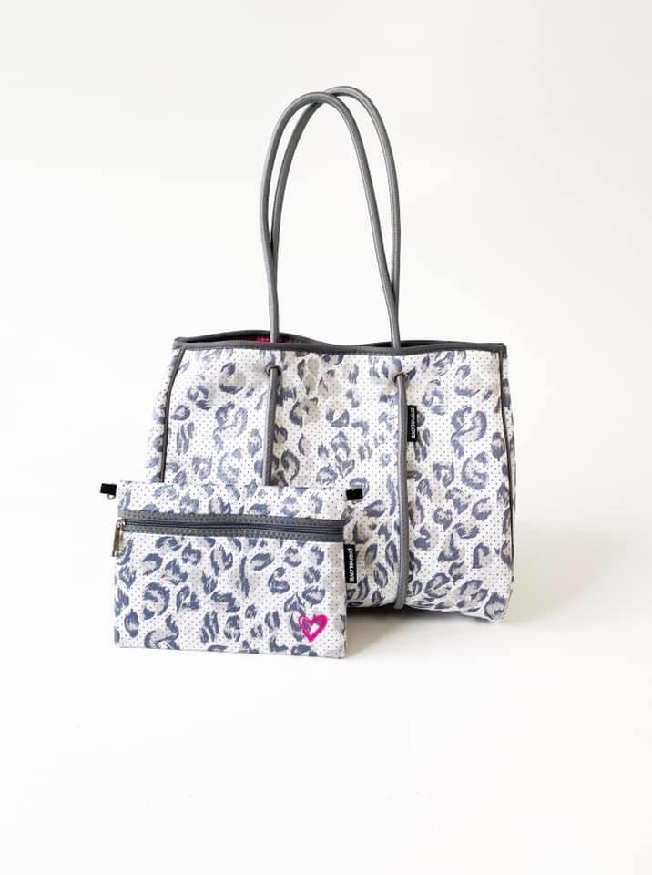 Neoprene Travel Tote, Leopard