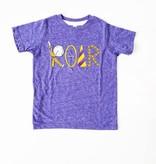 Purple & Gold Roar Tee, Kids