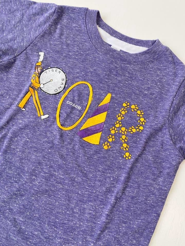 Purple & Gold Roar Tee, Kids
