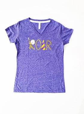 Purple & Gold Roar Tee