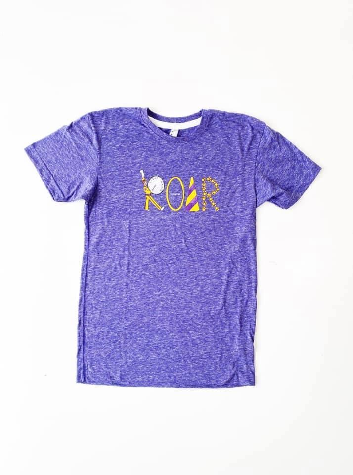 Purple & Gold Roar Tee