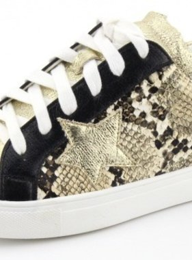 Nature Breeze Snakeskin Metallic Sneaker