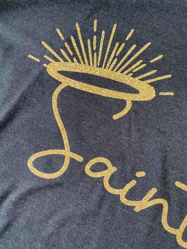 Saints Halo Glitter Tee