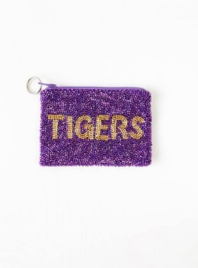 Tigers Beaded Pouch