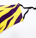 Purple & Gold Tiger Stripe Face Mask