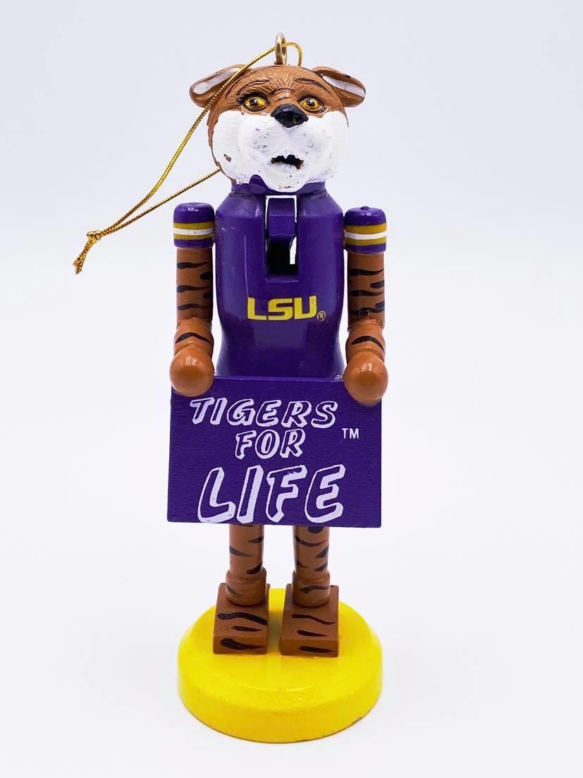 LSU For Life Nutcracker Ornament