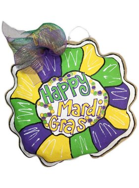 Burlap King Cake Door Hanger