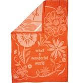 What a Wonderful World Towel, Orange