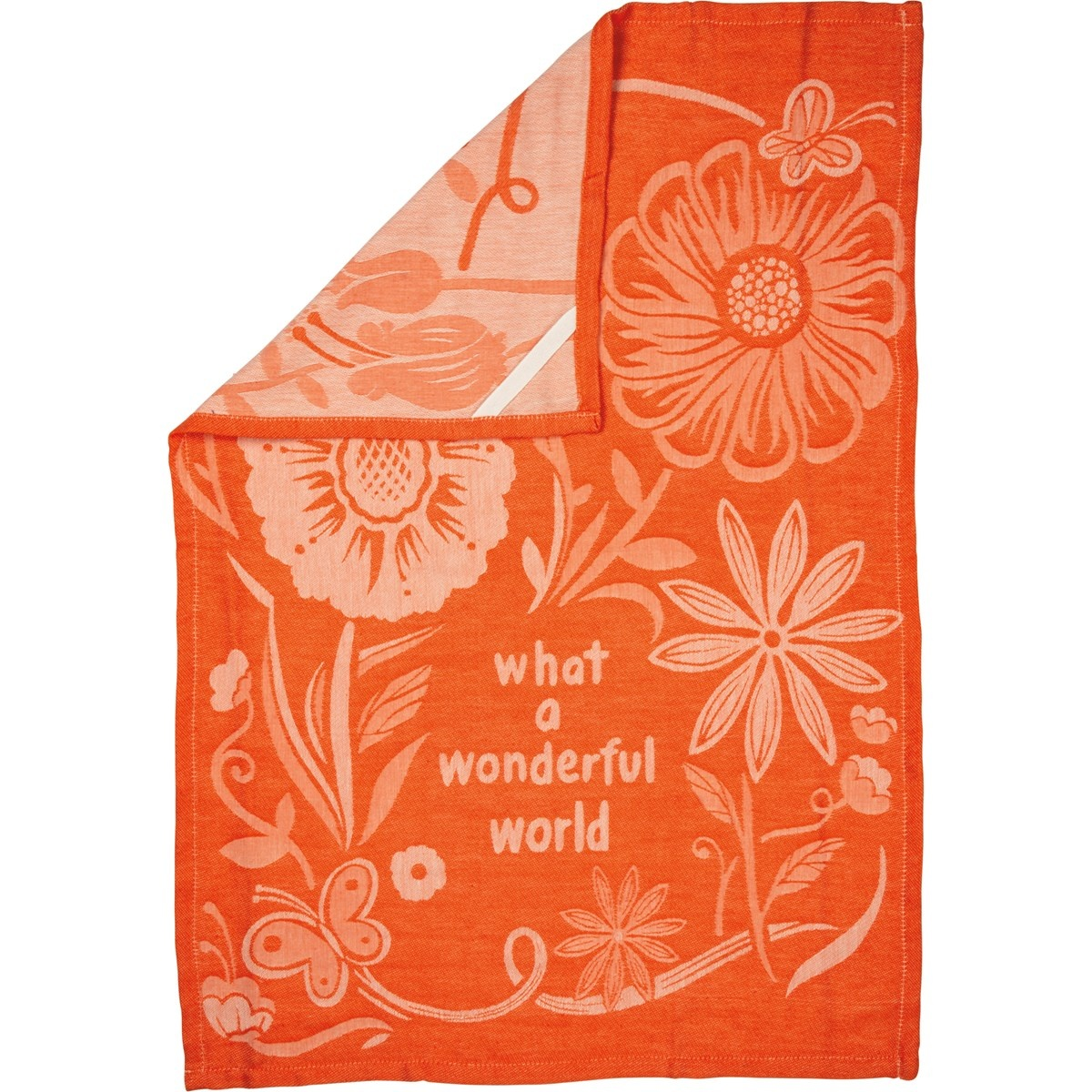 What a Wonderful World Towel, Orange