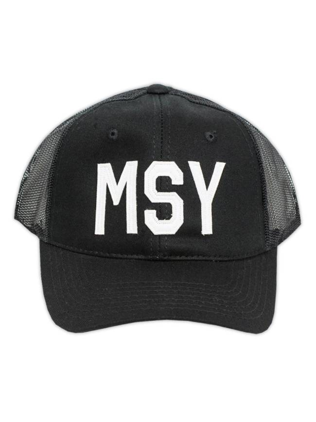 MSY Black Trucker Cap
