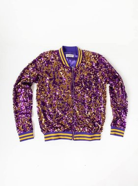 Purple & Gold Sequin Jacket