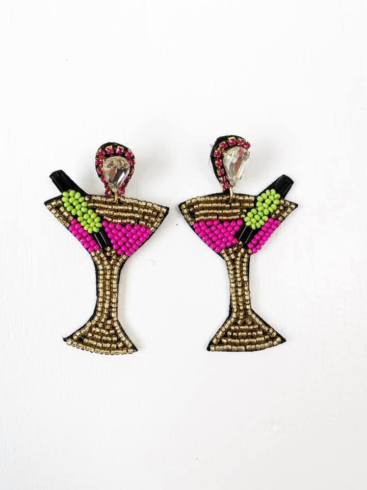 Martini Bling Earrings
