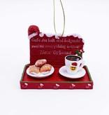Cafe Au Lait & Beignet Tray Ornament