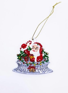 Santa Superdome Ornament