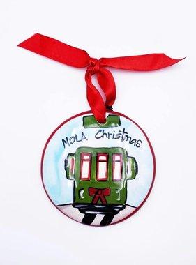 NOLA Christmas Streetcar Ornament