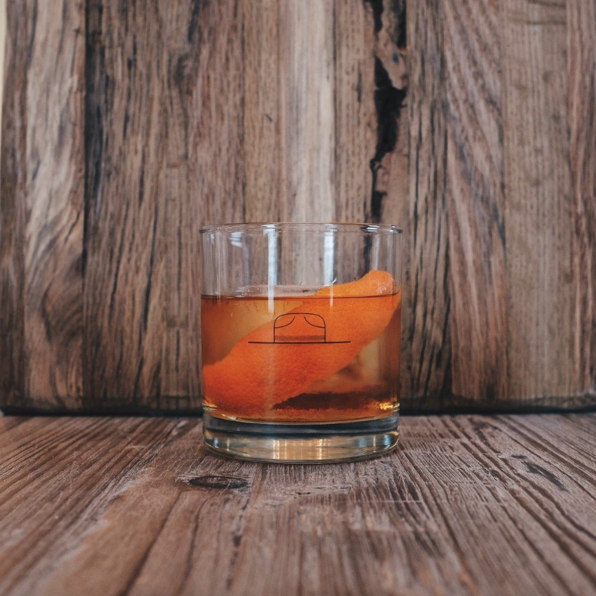 Old Fashioned Candle in Reusable Whiskey Glass