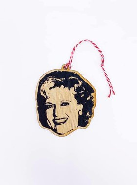 Celebrity Wood Ornament, Betty White