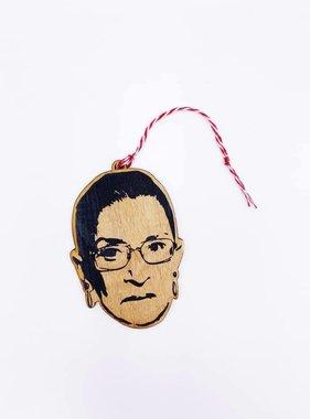 Celebrity Wood Ornament, Ruth Bader Ginsburg