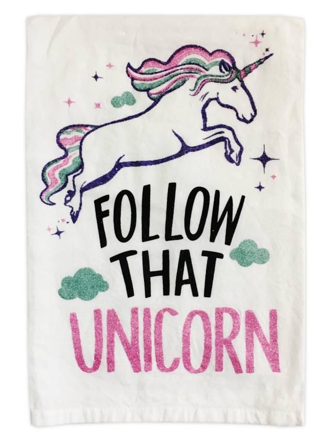 Primitives by Kathy Follow That Unicorn Kitchen Towel