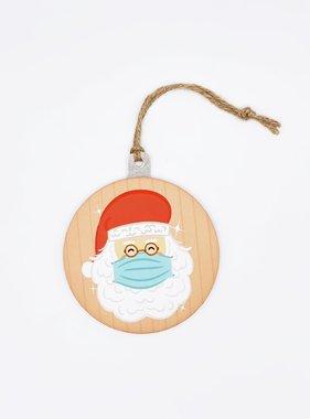Masked Santa Disc Ornament