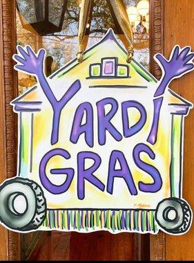Yardi Gras Door Hanger