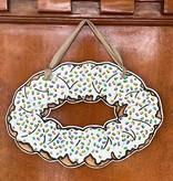 Iced King Cake Door Hanger