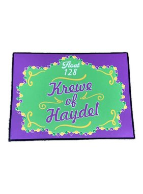 Custom Mardi Gras Float Door Mat