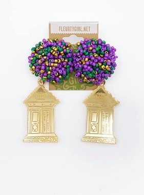Gold Shotgun House Earrings