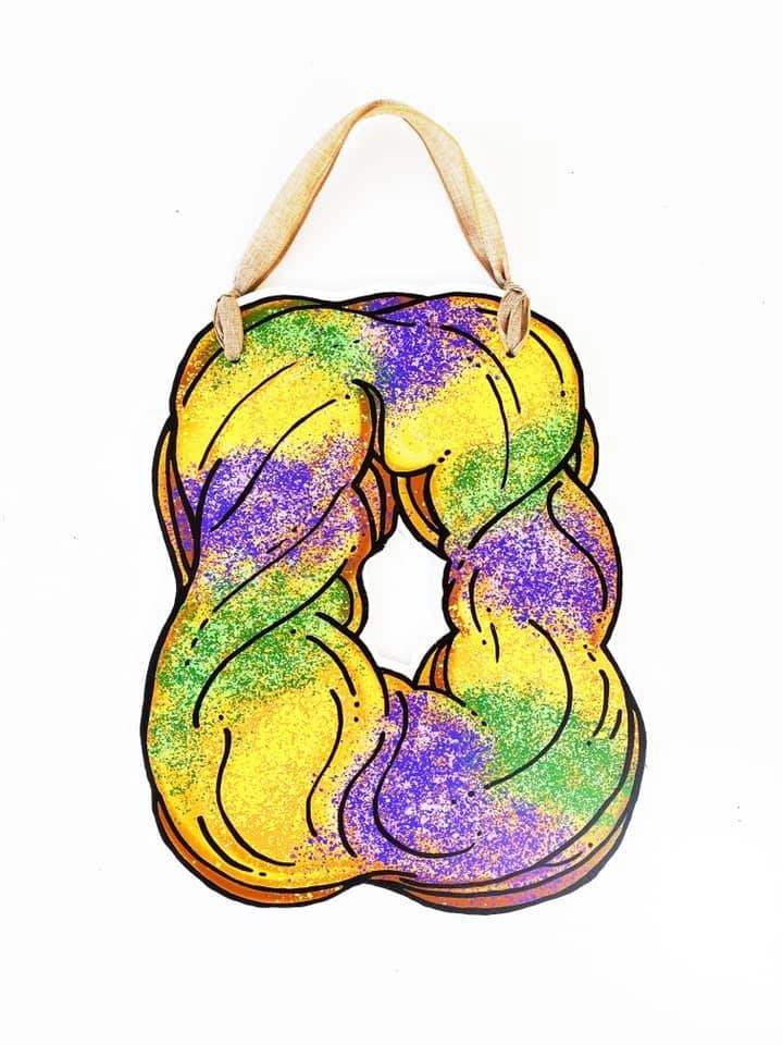 Haydel's King Cake Door Hanger