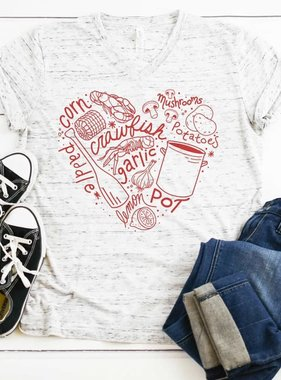 Crawfish Boil Heart Tee
