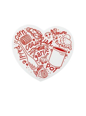 Crawfish Boil Heart Sticker