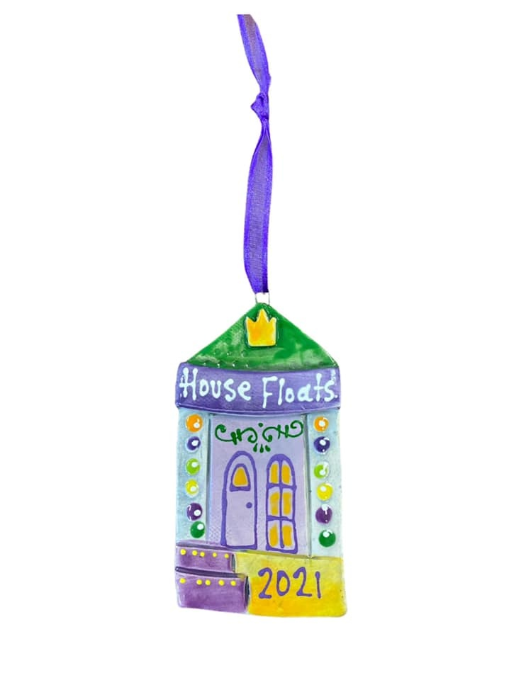 2021 House Float Ceramic Ornament