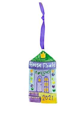 2021 House Float Ceramic Ornament