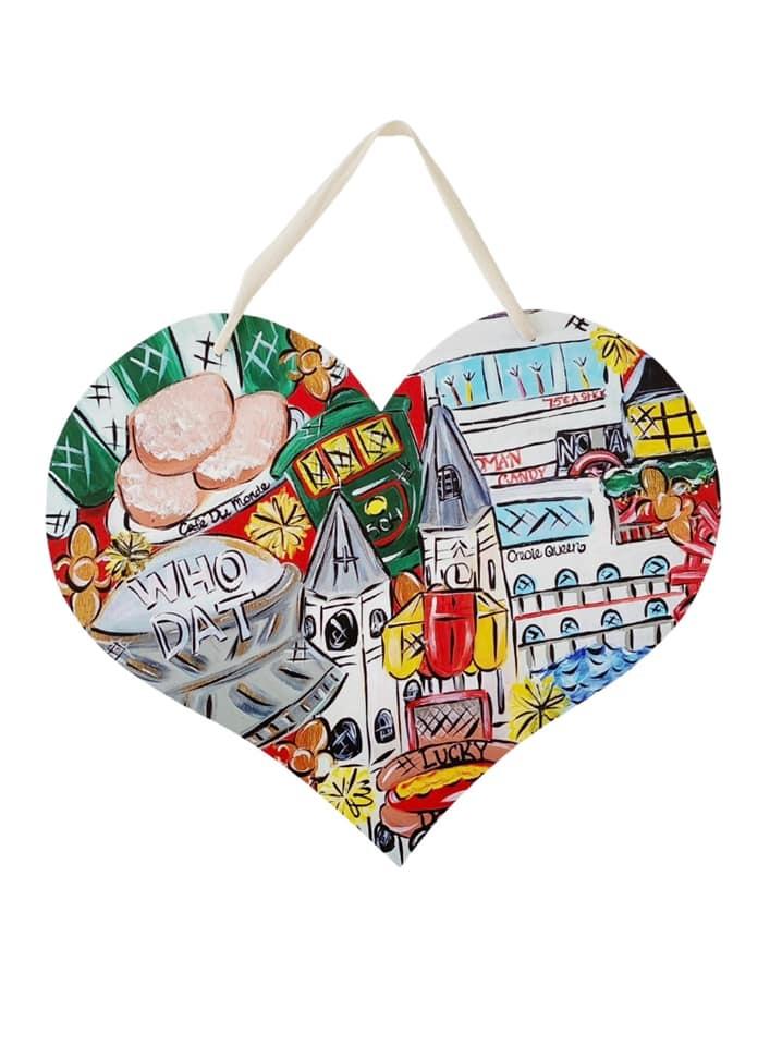 Nola Heart Door Hanger