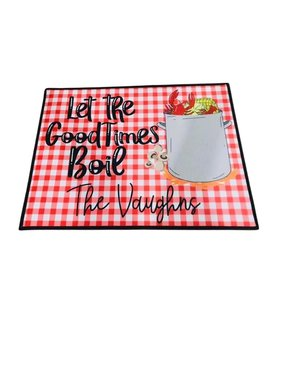 Custom Crawfish Boil Door Mat
