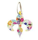 Floral de Lis Door Hanger