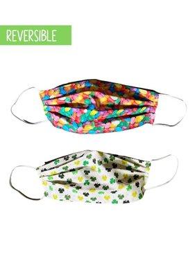 Reversible Face Mask, Shamrocks & Jelly Beans